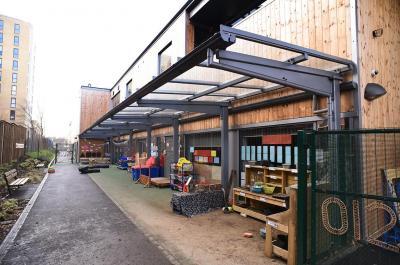 Hartcliffe Canopy at The London Academy, Edgware, Broxap