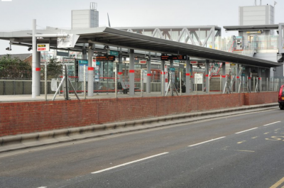 Platform Canopies at Star Lane DLR Station - Broxap