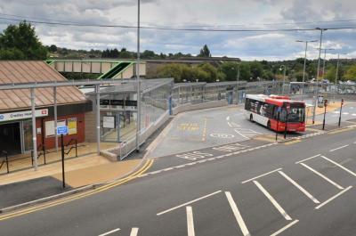 Bespoke Covered Walkway at Cradley Heath Transport Interchange - Broxap