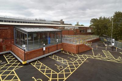 Gloucester Railway Station Ticketing Shelter
