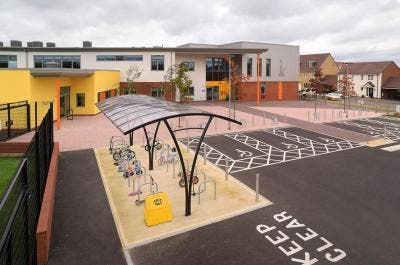 Cycle Shelter at Newton Leys Primary School - Broxap