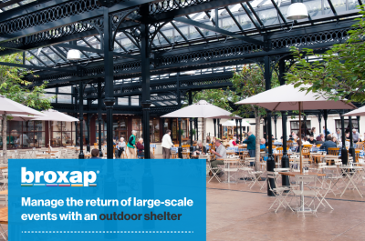 Manage the return of large-scale events with an outdoor shelter from Broxap