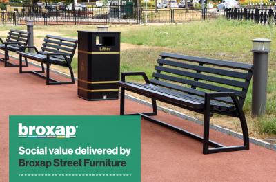 Social value delivered by Broxap Street Furniture