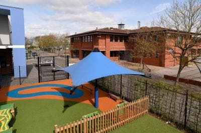 Tensile Fabric Canopy at The Rise School, Middlesex - Broxap
