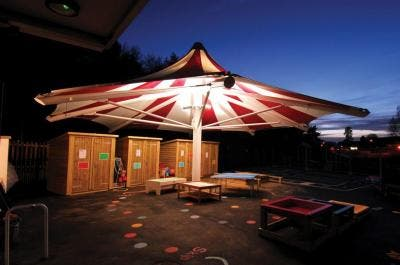 Big Top Playground Canopy at Woodland View Primary - Broxap