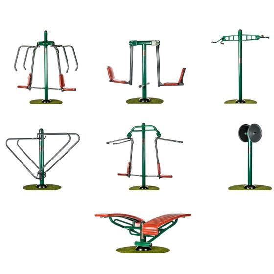 Strength Builder Package   Sunshine Gym   Outdoor Gym Equipment