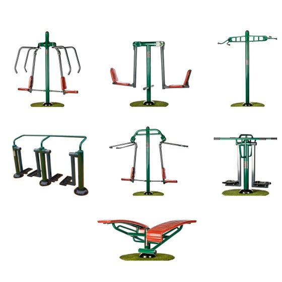Team Fitness Package   Sunshine Gym   Outdoor Gym Equipment