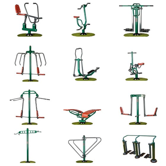 Complete Multi-Gym Package   Sunshine Gym   Outdoor Gym Equipment