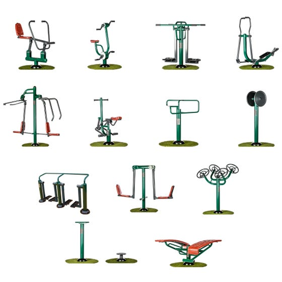 Complete Campus Package   Sunshine Gym   Outdoor Gym Equipment