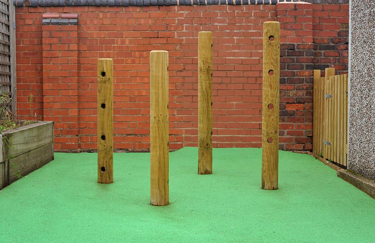Holey Poles