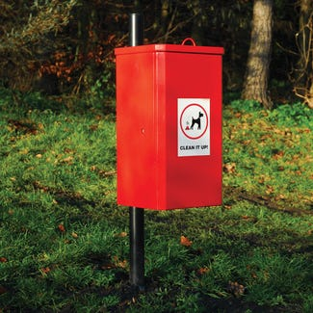 K-Nine Post Mounted Dog Waste Bin