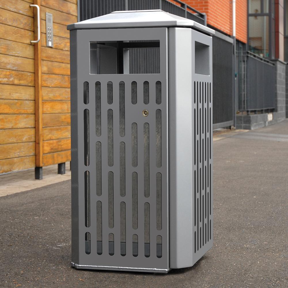 Derby Weyburn Litter Bin - Stainless Steel