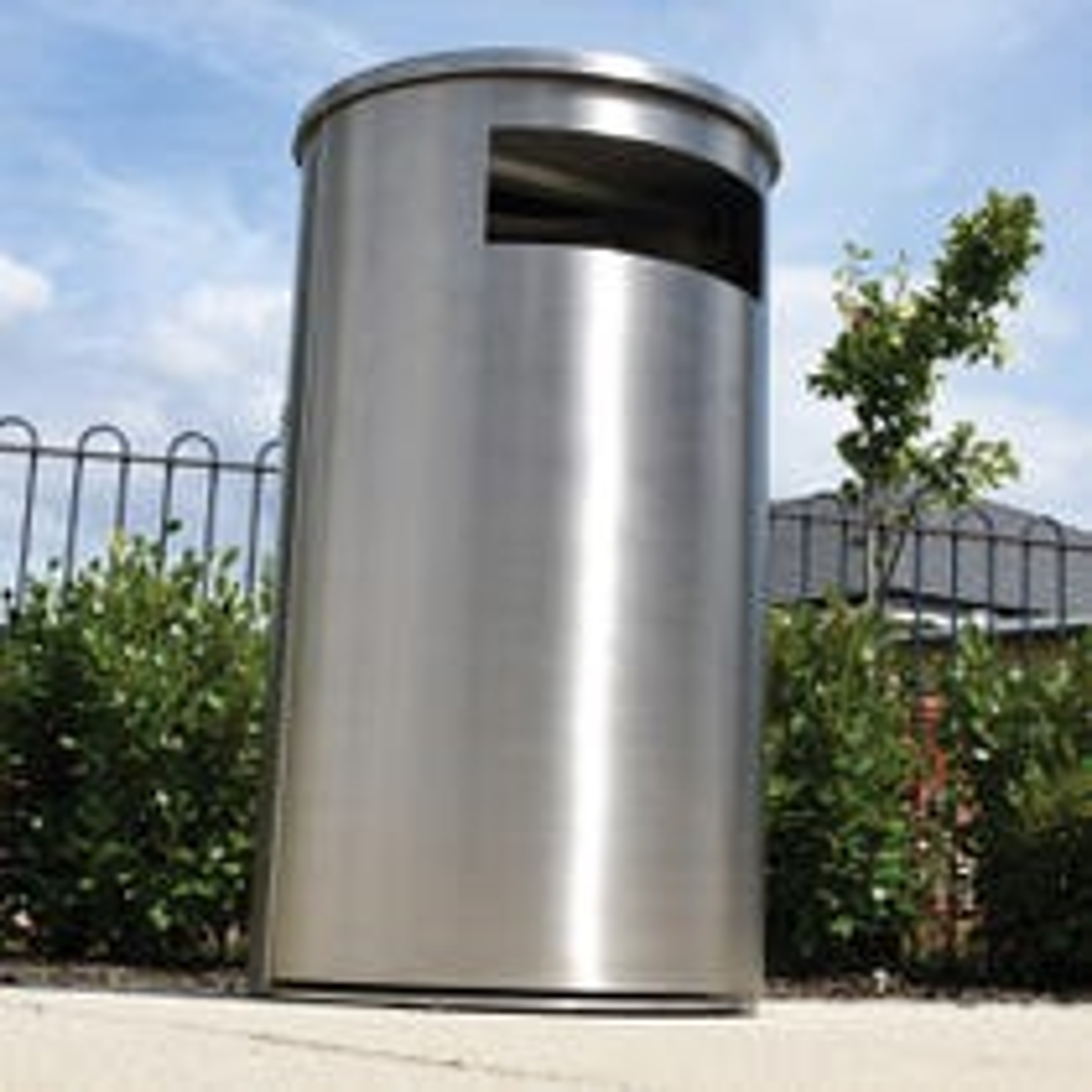 Derby Round Litter Bin - Stainless Steel
