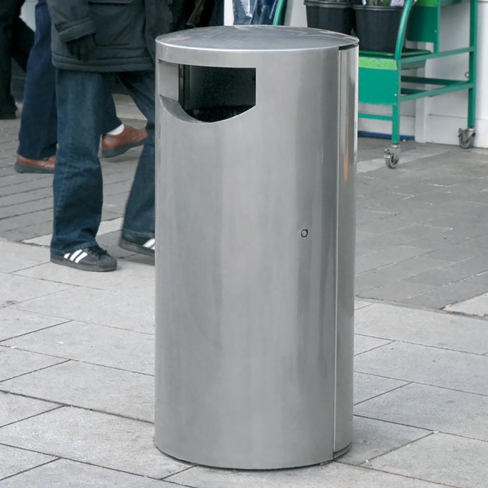 Derby Eros Litter Bin - Stainless Steel