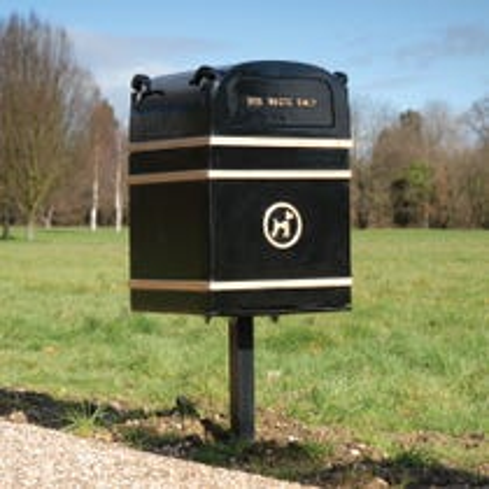 Post Mounted Dog Waste Bin