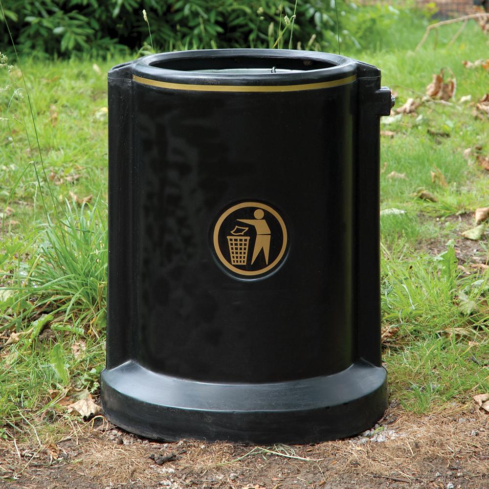 Maelor Open Top Plastic High Security Litter Bin