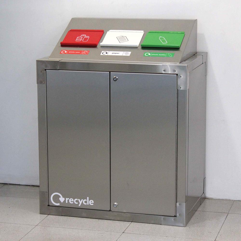 SEPR8™ Stainless Steel Recycling Bin