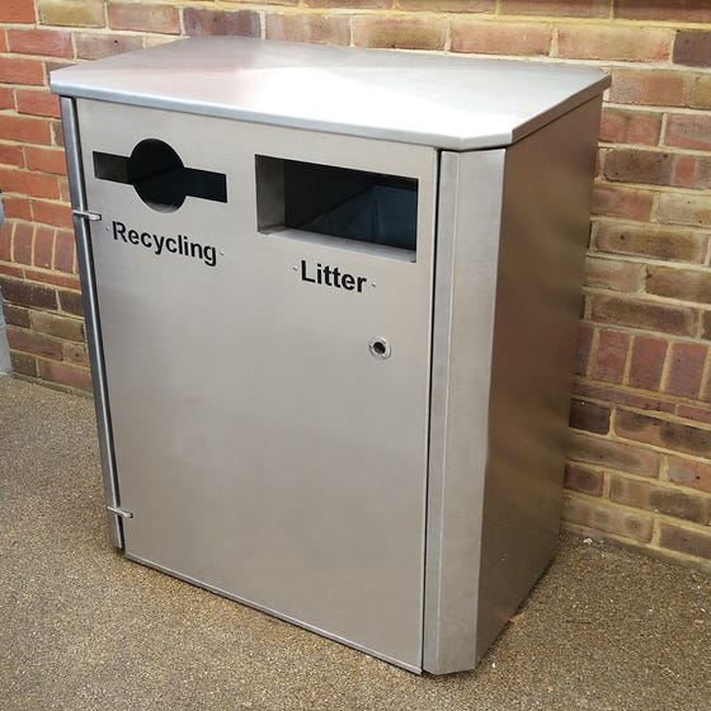 Derby Double Stainless Steel Recycling Bin