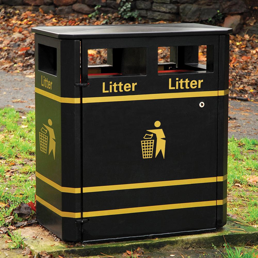 Derby E Double Litter Bin