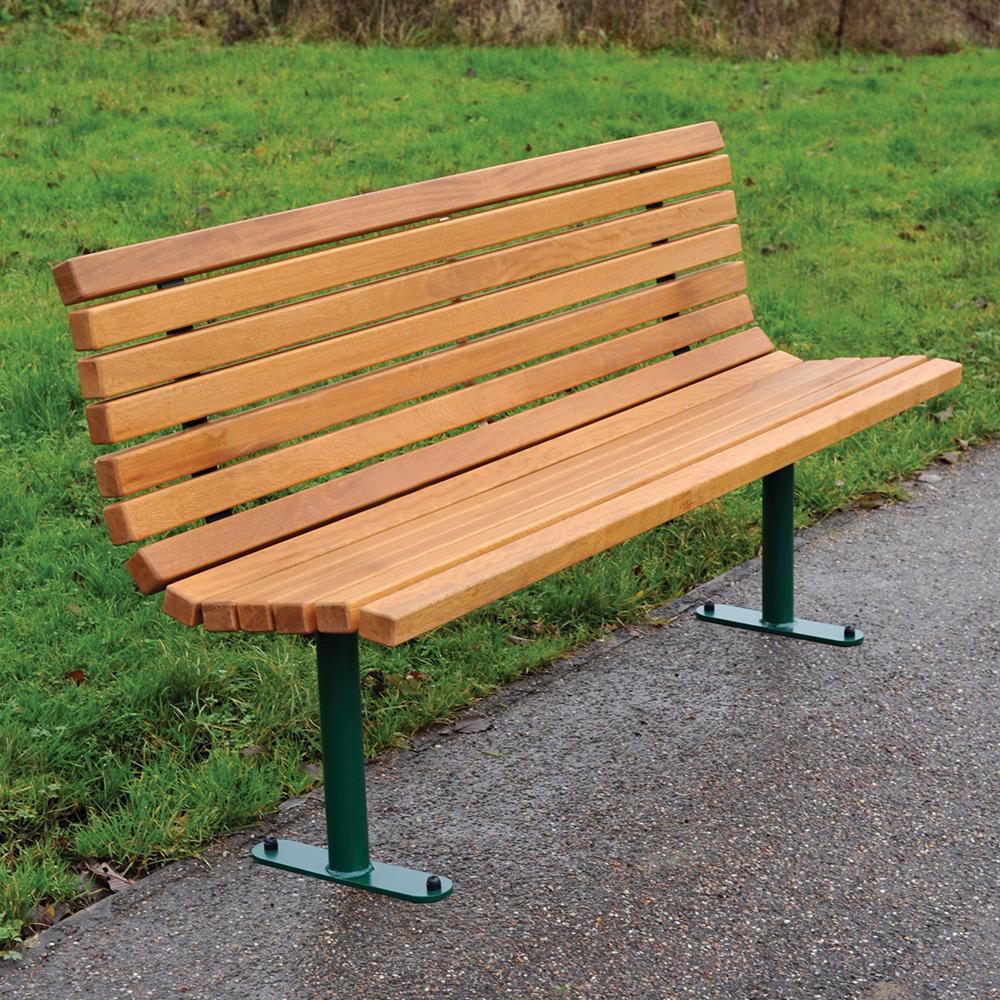 Roslin Steel Framed Timber Seat