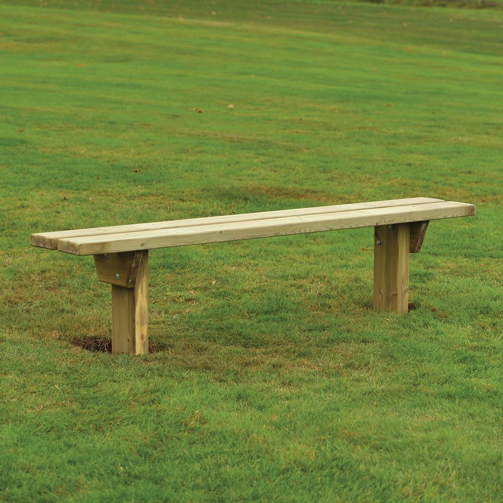 Armley Rustic 2 Slat Bench