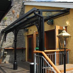 Monopitch Glass Entrance Canopy