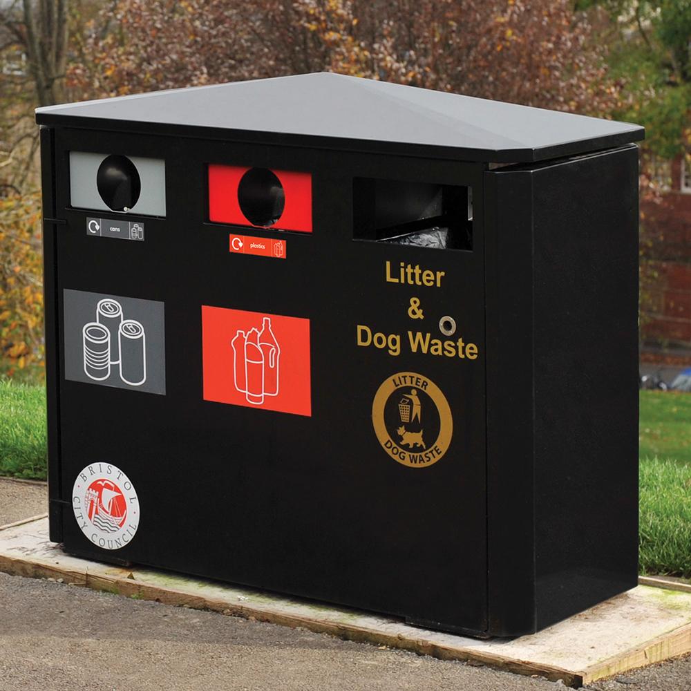 Derby Triple Recycling Bin