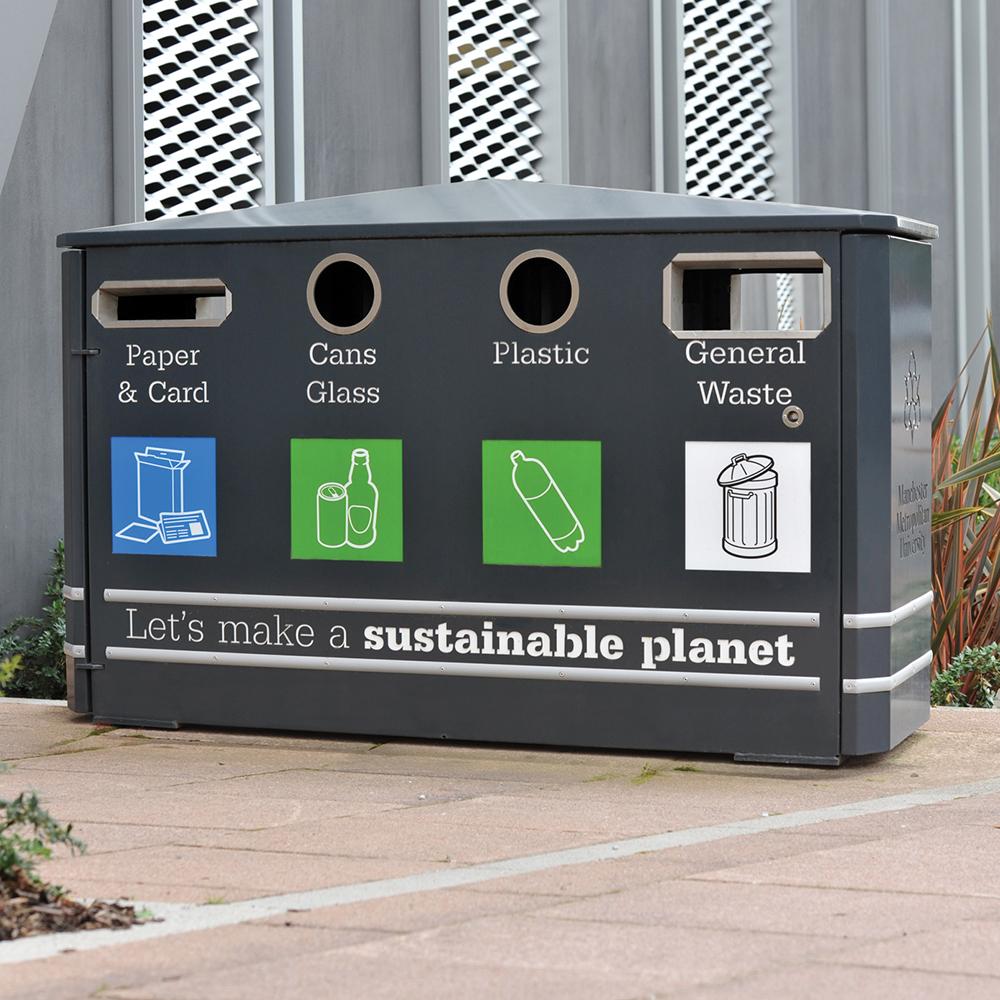 Derby Quad Recycling Bin