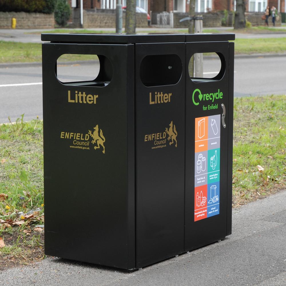 Buxton Double Recycling Bin