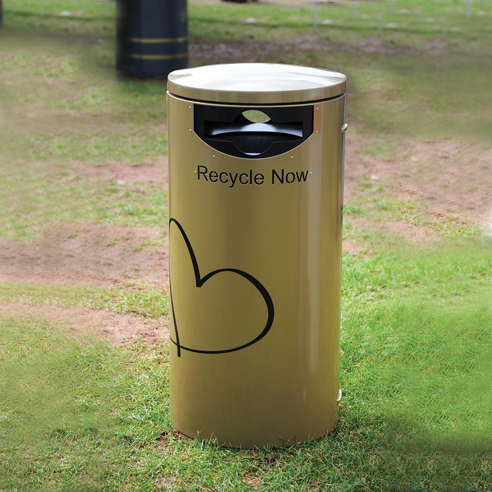 Derby Eros Steel Recycling Bin