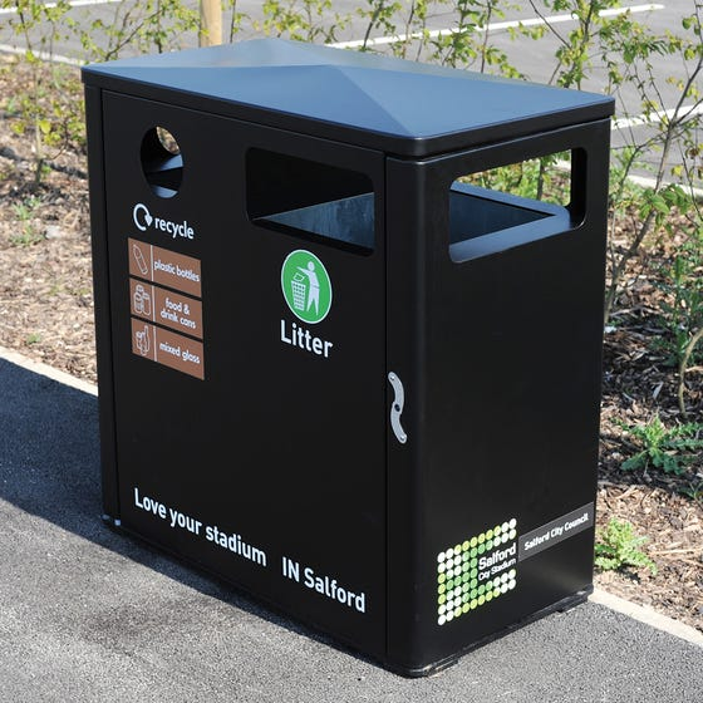 Athena Double Litter & Recycling Bin
