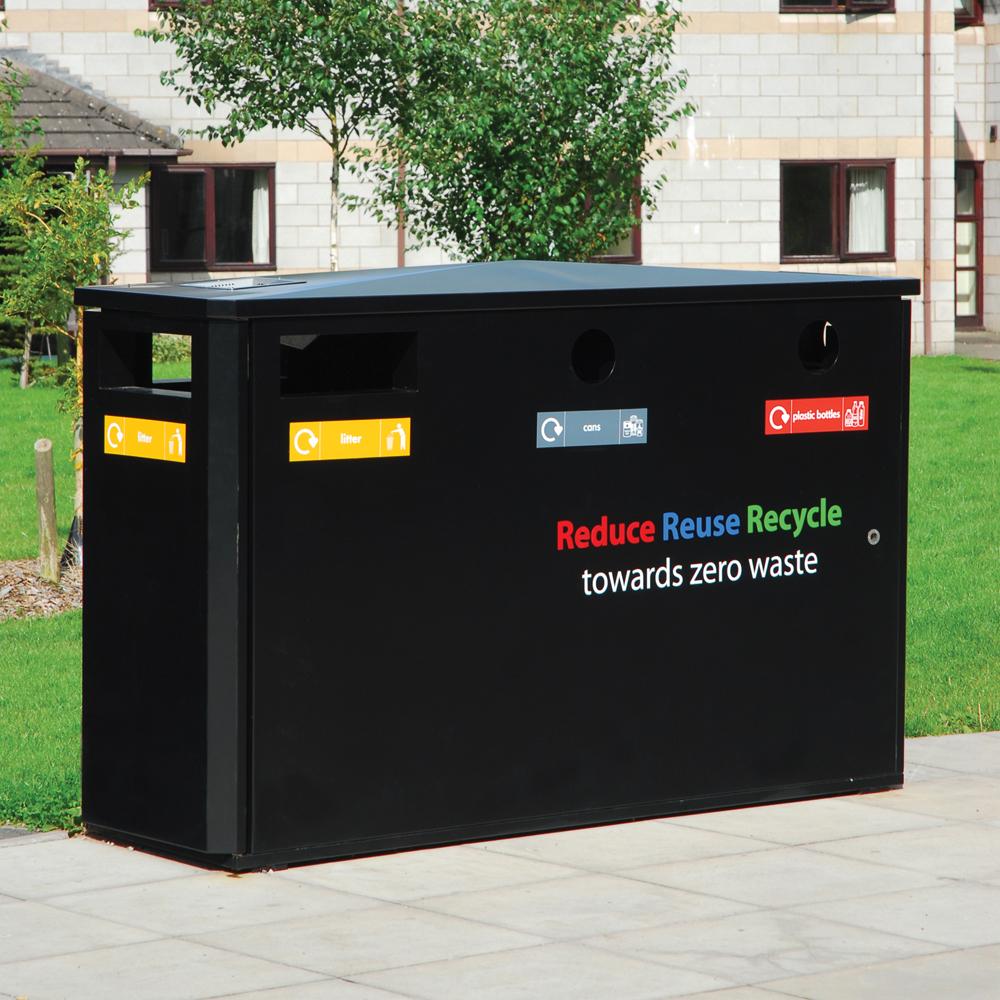 Derby Triple Wheelie Bin Recycling Unit