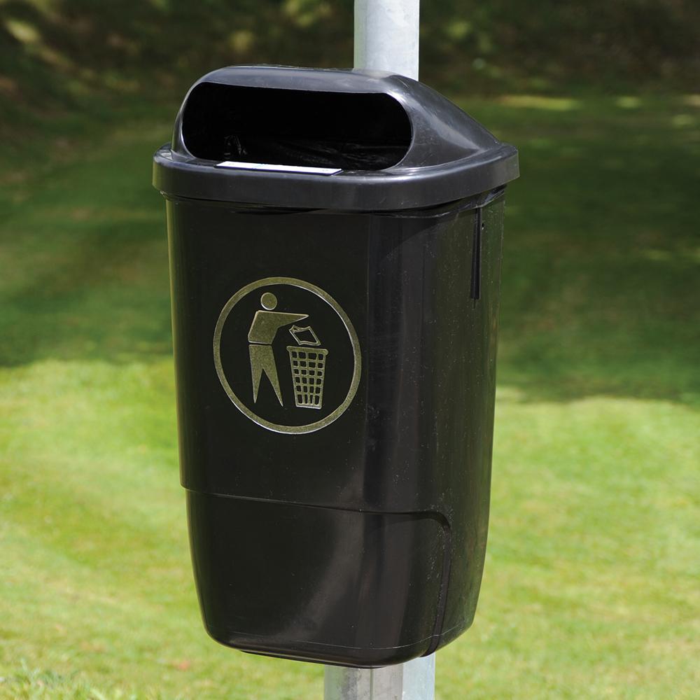 Post Mounted Litter Bin