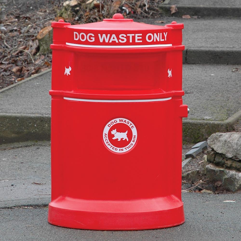 Maelor Plastic High Security Dog Waste Bin