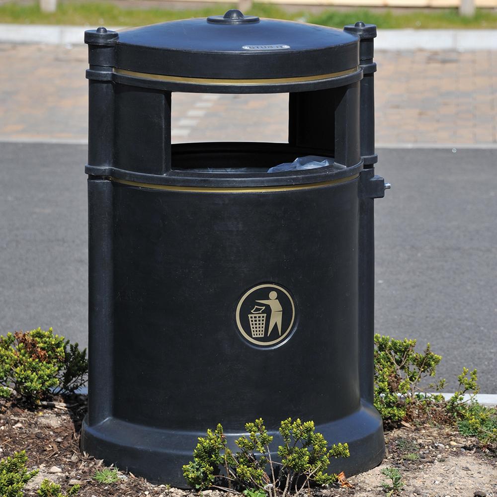 Maelor Trafflex High Security Litter Bin - 180 Litre