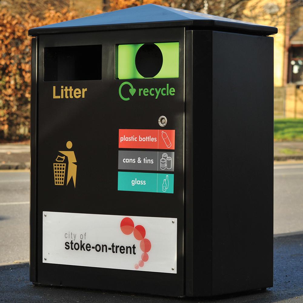 Derby E Double Recycling Bin