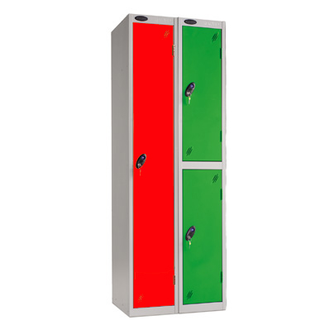 Probe Metal Nest of 2 (double) Lockers  - Extra Wide Compartments (460x460mm each)