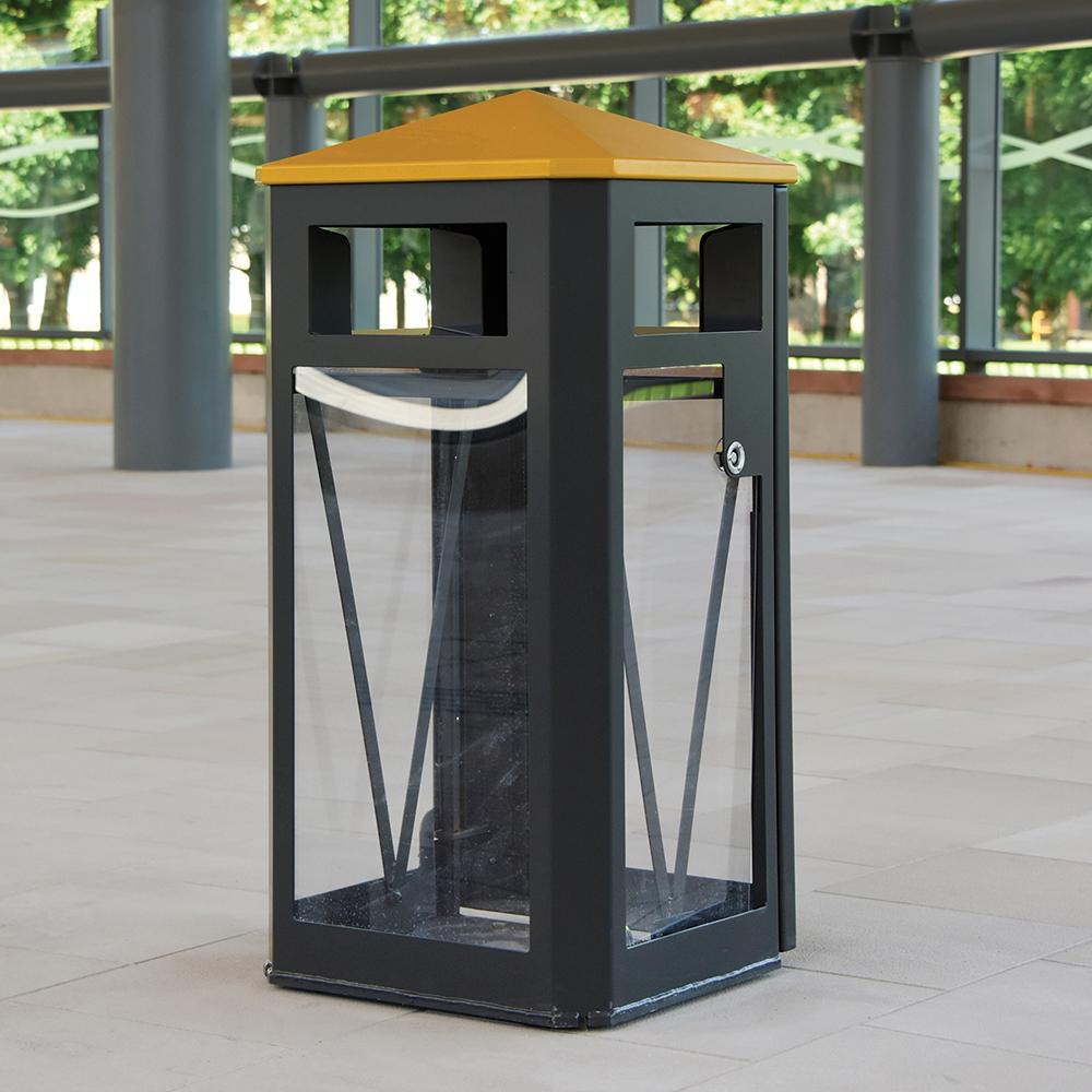 Derby Hi-Vis Security Litter Bin