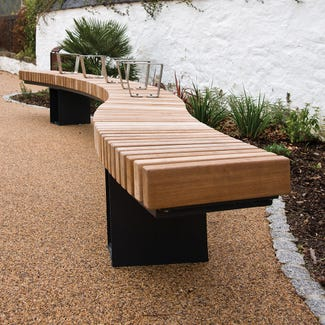 Helston Curved Bench