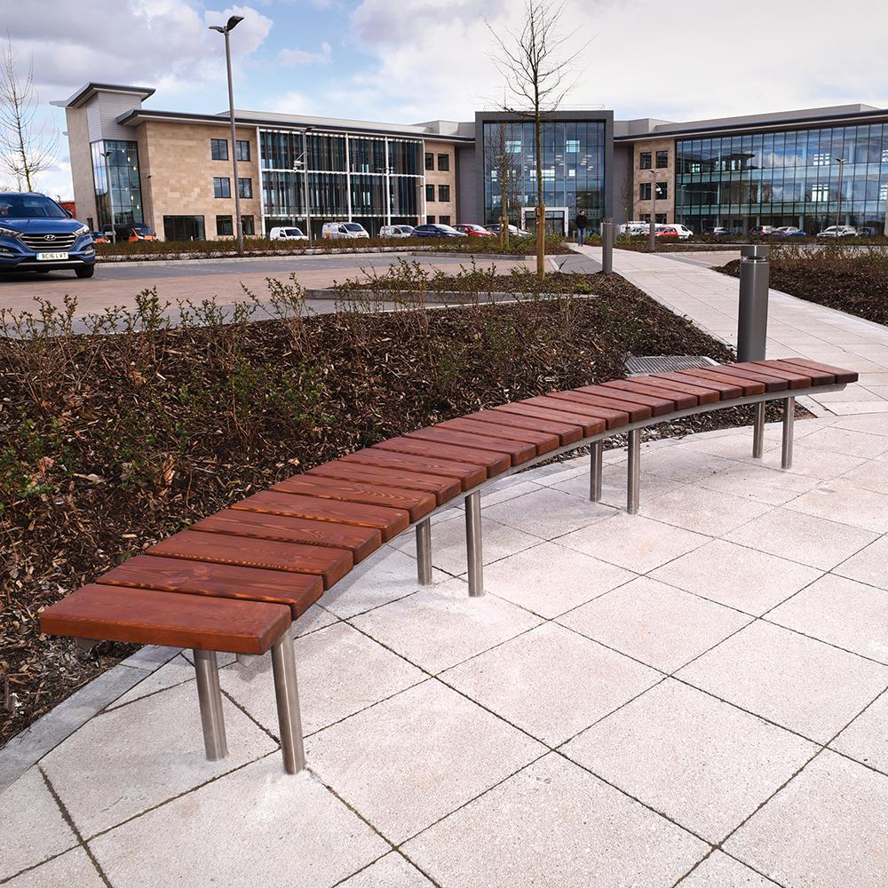 Warwick Curved Bench