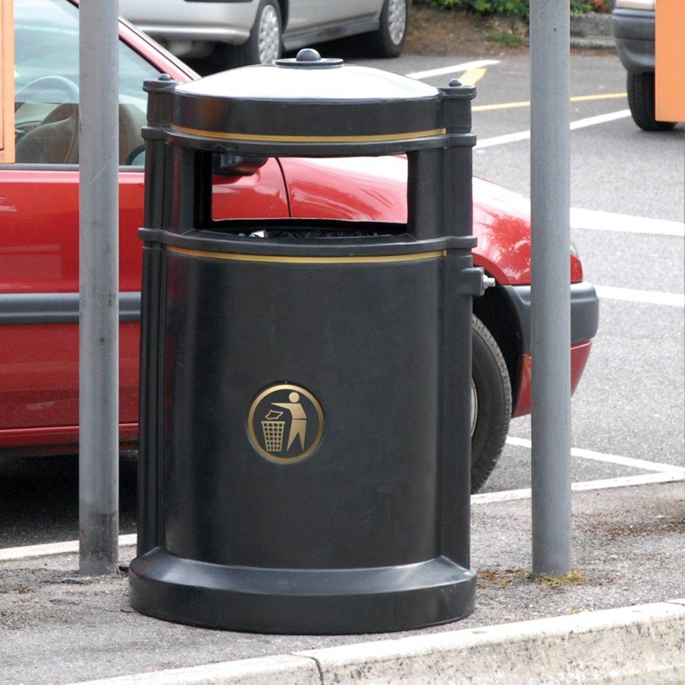 Maelor Trafflex High Security Litter Bin - 120 Litre