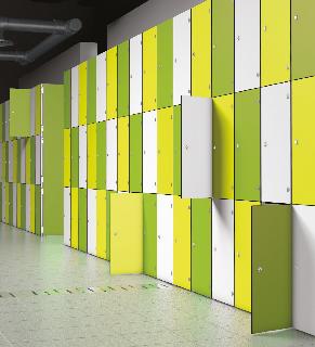 Aluminium Lockers with Laminate Door