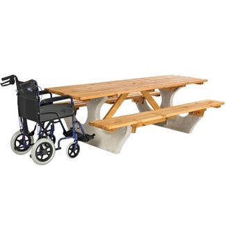 Waterston Concrete & Timber Picnic Unit - 10 Seater