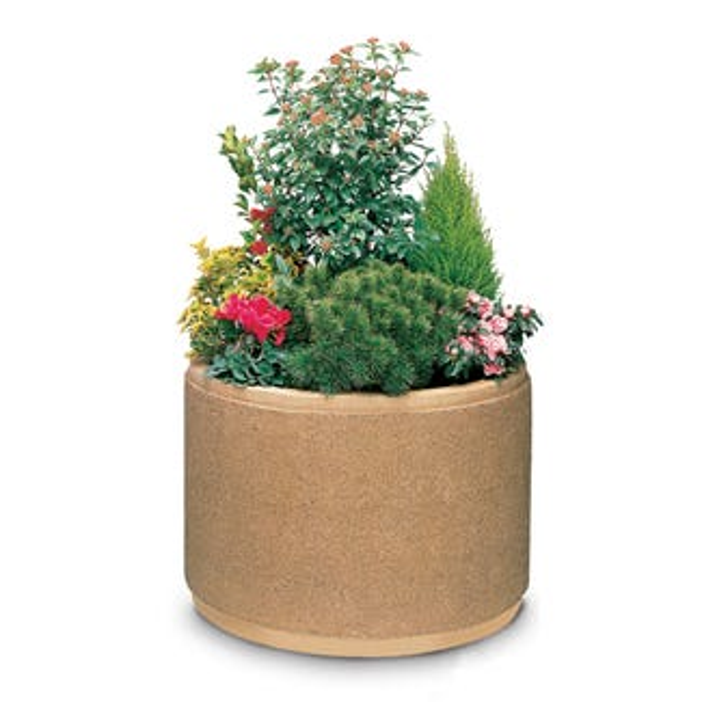Circular Concrete Planters