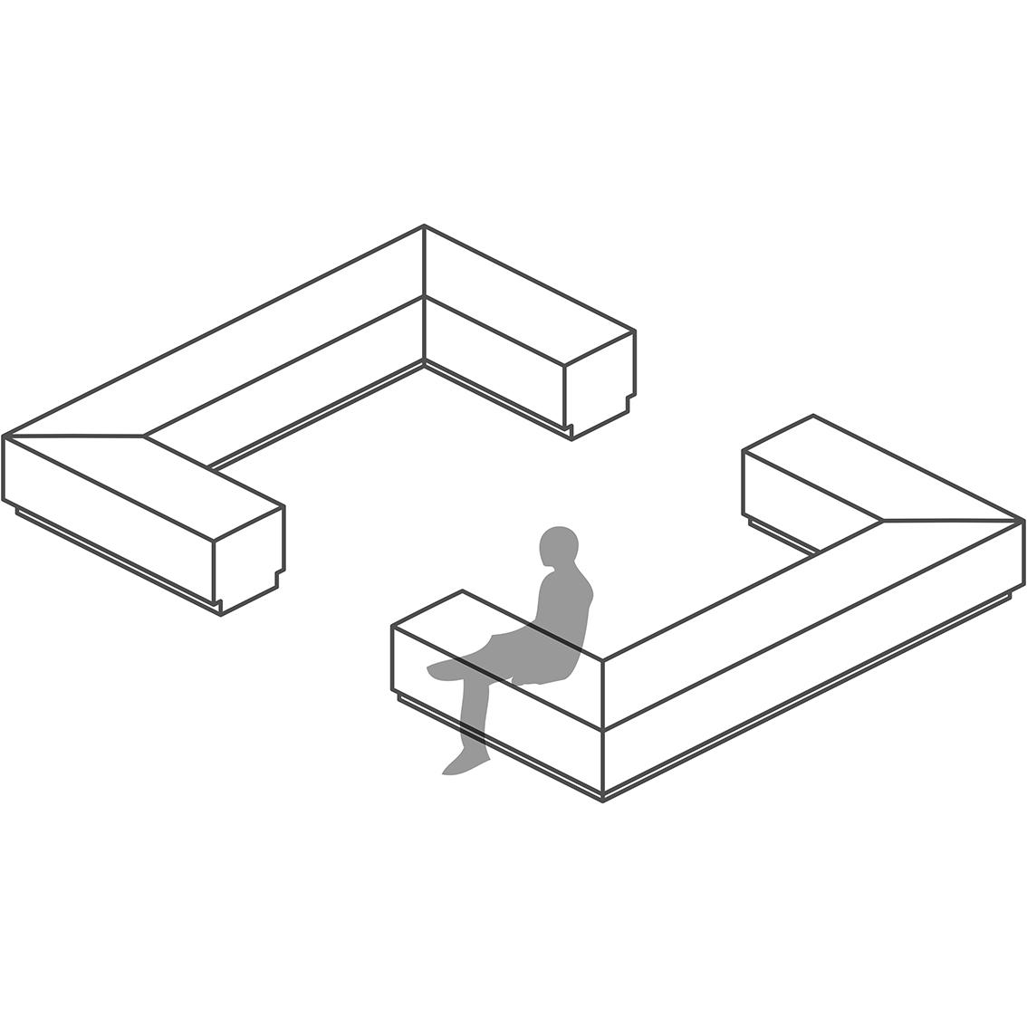 Bench Modular Seating - Module F