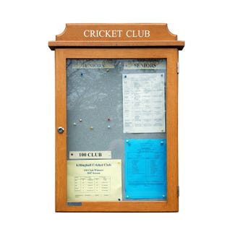 Oak Noticeboard (Displays 4 x A4 Sheets)