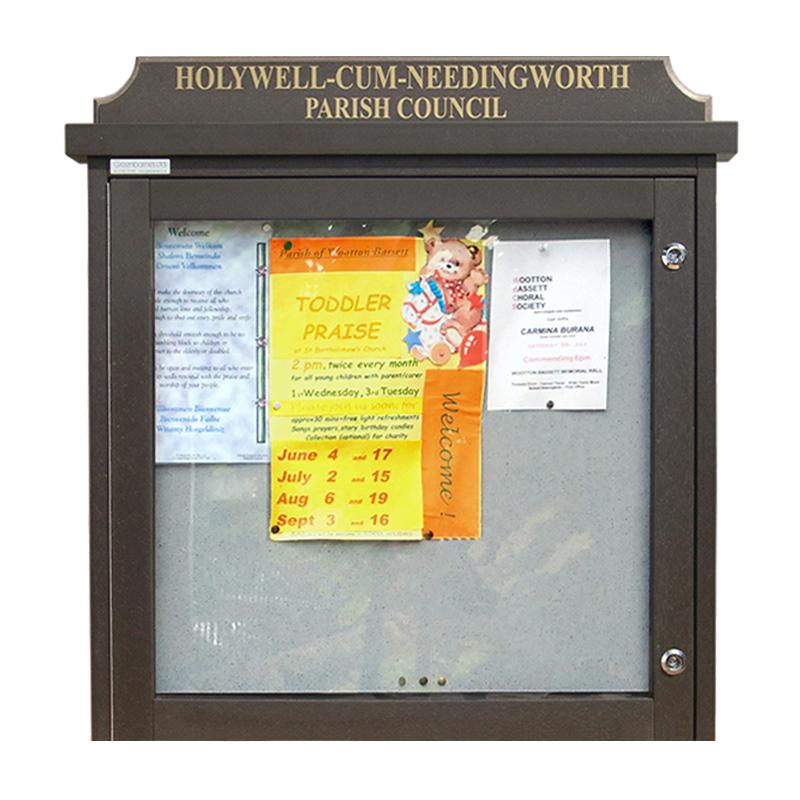 'Man-Made Timber' Noticeboard (Displays 6 x A4 Sheets)