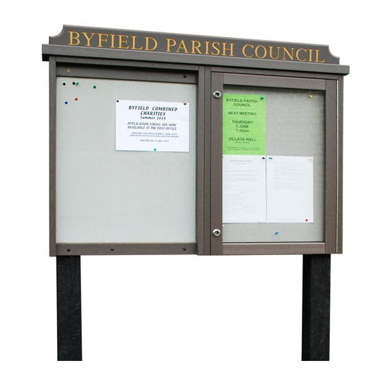 Double Bay 'Man-Made Timber' Noticeboard, 1 Bay Glazed (Displays 8 x A4 Sheets)