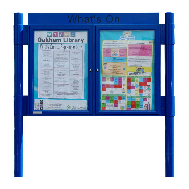 Double Bay Contemporary Aluminium Noticeboard (A2 Displays)