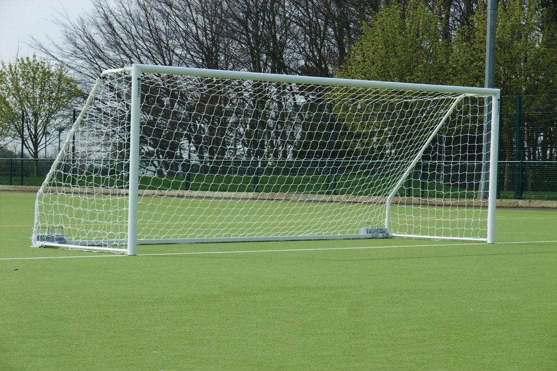 Freestanding 80mm Aluminium Mini Soccer Goals Package - 12' x 6'
